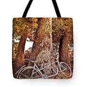 Bicycle Built For Two Tote Bag by Debra and Dave Vanderlaan