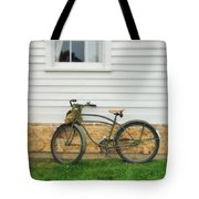 Bicycle By House Tote Bag