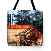 Bicycle By Train Station Tote Bag