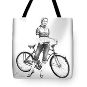 Bicycle Girl Tote Bag