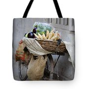 Bicycle Loaded With Food, Delhi, India Tote Bag