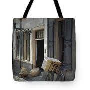 Bicycle On A Street By The Zuider Zee  Tote Bag