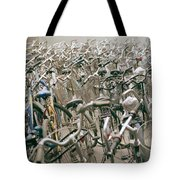 Bicycle Park In Beijing In China Tote Bag