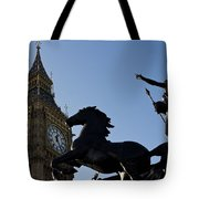 Big Ben And Boadicea Statue  Tote Bag