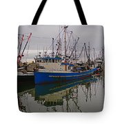 Big Blue Fishing Boat Tote Bag