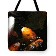 Big Lip Koi Spit Tote Bag