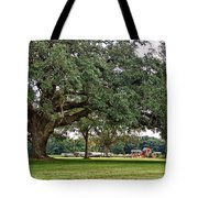 Big Oak And The Tractors Tote Bag