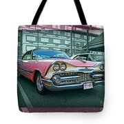 Big Pink Dodge Tote Bag