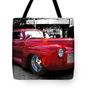 Big Red Abstract Tote Bag