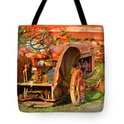 Big Red Tractor Tote Bag