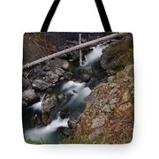 Big Rocks In White Water  Tote Bag