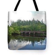 Big Sky And Docks On The River Tote Bag