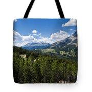 Big Sky Ski Trails Tote Bag