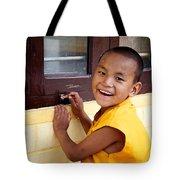 Big Smile At The Window Tote Bag