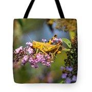Big Yellow Grasshopper Tote Bag