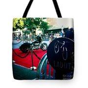 Bike Parking Tote Bag