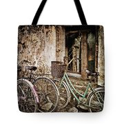 Bikes And A Window Tote Bag