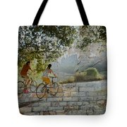Bikes And Bricks Tote Bag