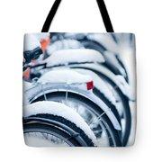 Bikes In Snow Tote Bag