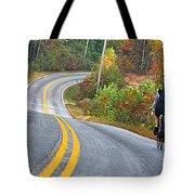 Biking In Autumn Tote Bag