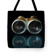 Binoculars With Eyes Looking At You Tote Bag