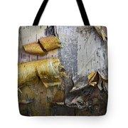 Birch Tree Bark No.0863 Tote Bag