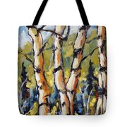 Birches Aglow By Prankearts Tote Bag