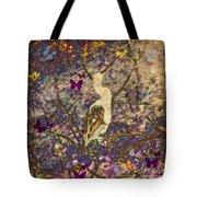 Bird And Butterflies Tote Bag