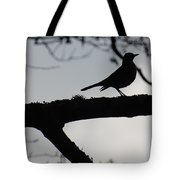 Bird At Dusk Tote Bag