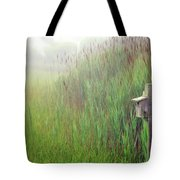 Bird House In Quogue Wildlife Preserve Tote Bag by Rick Berk