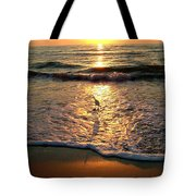 Bird In The Spotlight On The Gulf Tote Bag
