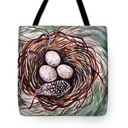 Bird Nest And A Feather Tote Bag