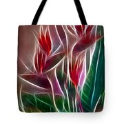 Bird Of Paradise Fractal Tote Bag