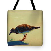 Bird On Daytona Beach Tote Bag