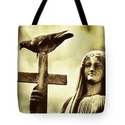 Bird On The Cross Tote Bag