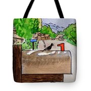 Bird On The Mailbox Sketchbook Project Down My Street Tote Bag
