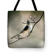 Bird - Tufted Titmouse - Wind Rider Tote Bag