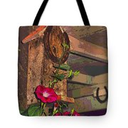 Birdhouse Morning Glories Two Tote Bag