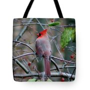 Birds And Berries Tote Bag