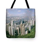 Birds Eye View Over Hong Kong Tote Bag