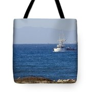 Birds Flying Over A Commercial Fishing Tote Bag