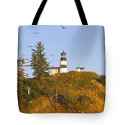 Birds In Flight Over Cape Tote Bag by Craig Tuttle