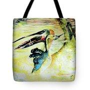 Birds Love Dance Tote Bag