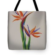 Birds Of Paradise -in Love Tote Bag