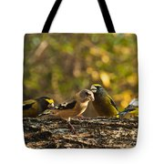 Birds Of Yellow Tote Bag