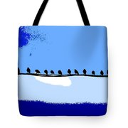 Birds On Wire Tote Bag