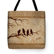 Birds Vintage Photo Beer Painting Tote Bag