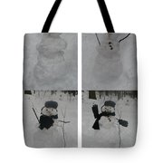 Birth Of A Snowman Tote Bag