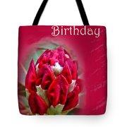 Birthday Card - Red Azalea Buds Tote Bag
