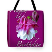 Birthday Greeting Card - Columbine Flower Tote Bag
